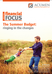 Acumen Autumn Newsletter - Summer Budget Review